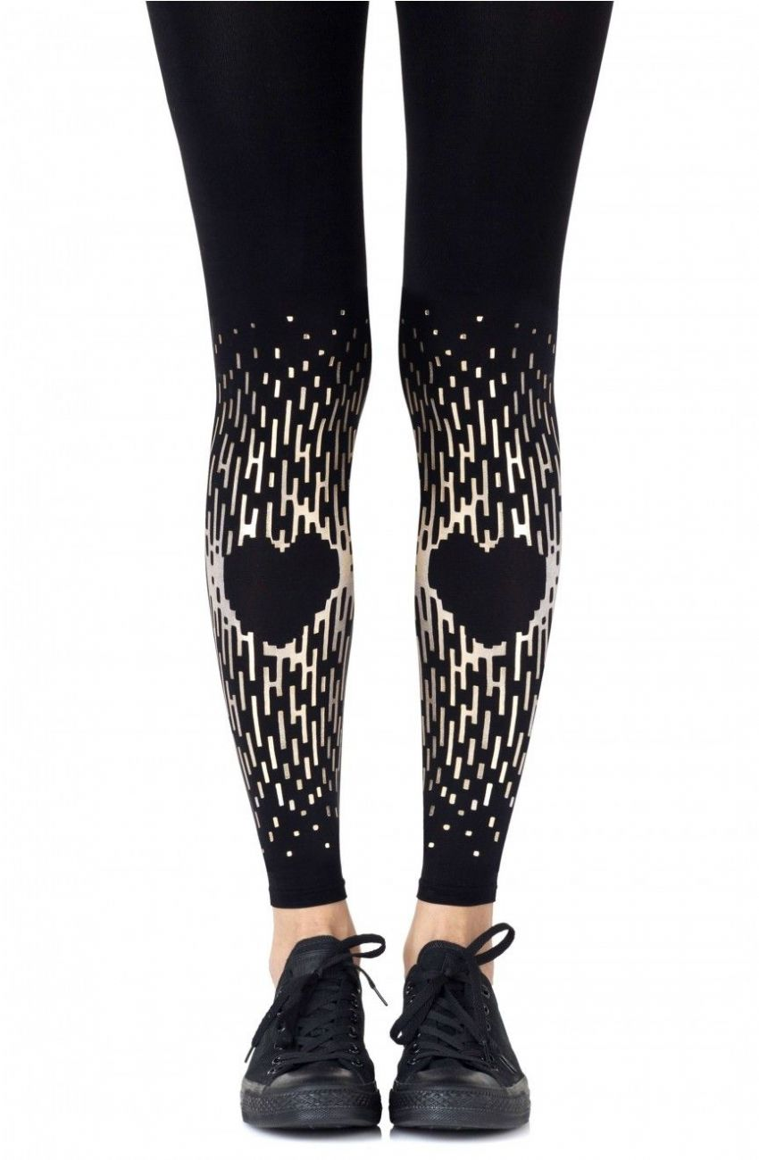 "Zohara - ""Spread the Love"" Black Footless Tights"